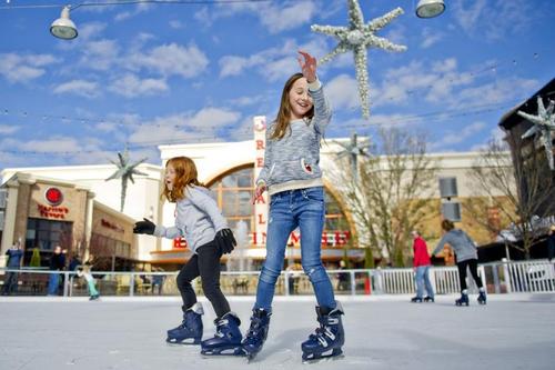 Ice Skating, Carmel, Indiana