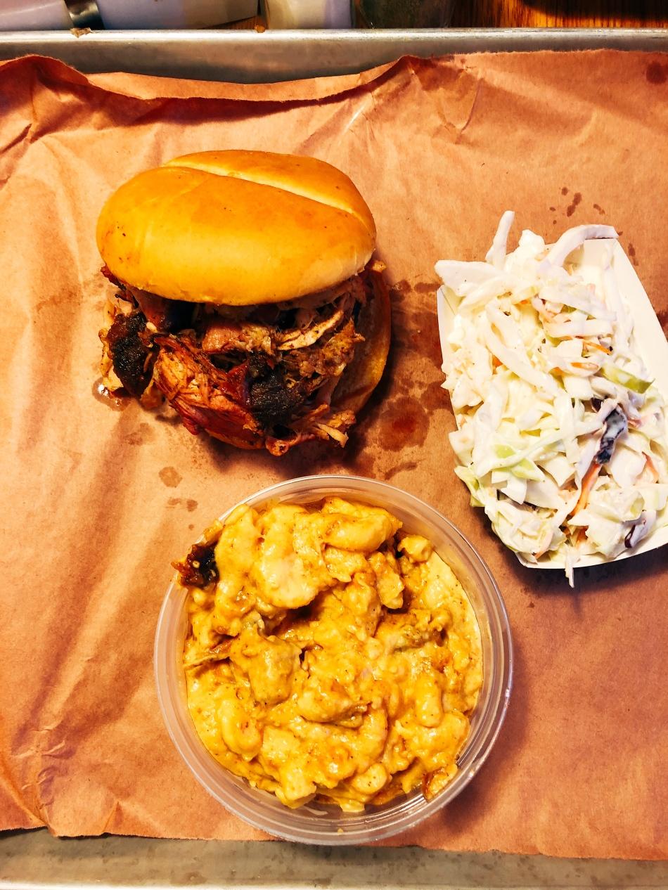 Brisket sandwich, sugarfire smokehouse, Indianapolis