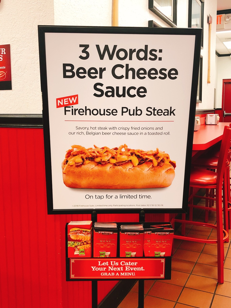Firehouse Subs sign, Indianapolis, IN